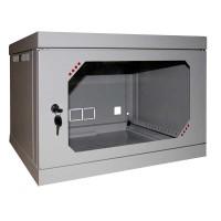 Шкаф настенный 6U, 570X450X390 ММ (Ш*Г*В), акриловое стекло