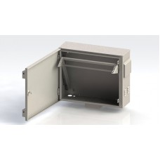 Шкаф антивандальный VA 2U, глубина 450мм, для внешнего монтажа