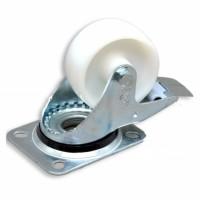 Колесо к шкафам полиамид (d80) на площадке с стопором 150 кг/колесо, CMS