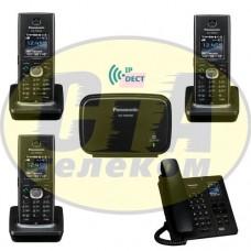 Panasonic KX-TGP600RUB + KX-TPA60RUB - 2шт + KX-TPA65RUB - 1шт, комплект SIP-DECT телефонов