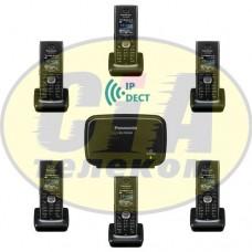 Panasonic KX-TGP600RUB + KX-TPA60RUB - 5шт, комплект SIP-DECT телефонов