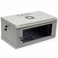 Монтажный шкаф 4U, 600х350х284 мм (Ш*Г*В), эконом, акриловое стекло, серый, серия MGSWL