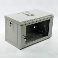 Монтажный шкаф 6U, 600х350х373 мм (Ш*Г*В), эконом, акриловое стекло, серый, серия MGSWL