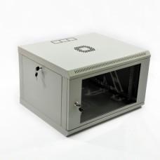 Монтажный шкаф 6U, 600х500х373 мм (Ш*Г*В), эконом, акриловое стекло, серый, серия MGSWL