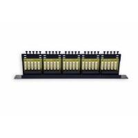 Патч-панель 50 портов, 1U, ISDN, черная, EPNew