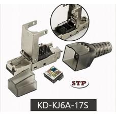 Коннектор RJ45 кат. 6A, экранированный, безинструментальный, Kingda