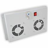 Блок из 2-х вентиляторов с выключателем и термостатом Audax, серый