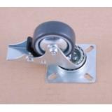 Колесо к шкафам полиамид-резина (d50) на площадке со стопором 40кг/колесо