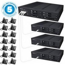 Panasonic KX-NS500UC, IP-АТС – конфигурация: 36 внешних городских линий, 112 внутренних, 16 системных телефонов