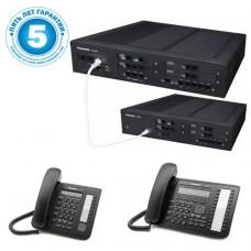 Panasonic KX-NS500UC, IP-АТС – конфигурация: 12 внешних, 64 внутренних, 2 системных телефона