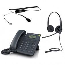 Yealink SIP-T19 E2 + Jabra BIZ 1500 Duo QD + кабель Jabra GN1200 CC
