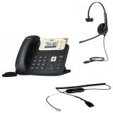 Yealink SIP-T21 E2 + Jabra BIZ 1500 Mono QD + кабель Jabra GN1200 CC