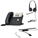 Yealink SIP-T21 E2 + Jabra BIZ 1500 Duo QD + кабель Jabra GN1200 CC