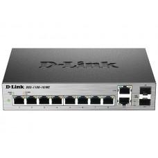 Коммутатор D-Link DGS-1100-10/ME 8x1GE, 2xSFP/1GE (combo) MetroEthernet Smart