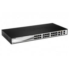 Коммутатор D-Link DES-1210-28 24port 10/100 2x1GE, 2x1GE/SFP, WebSmart