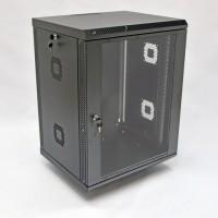 Монтажный шкаф 15U, 600х500х773 мм (Ш*Г*В), акриловое стекло, черный, серия MGSWA