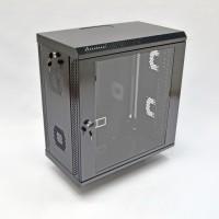 Монтажный шкаф 12U, 600х350х640 мм (Ш*Г*В), акриловое стекло, черный, серия MGSWA
