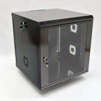 Монтажный шкаф 12U, 600х500х640 мм (Ш*Г*В), акриловое стекло, черный, серия MGSWA