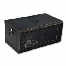 Монтажный шкаф 4U, 600х350х284 мм (Ш*Г*В), эконом, акриловое стекло, черный, серия MGSWL