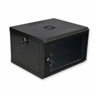 Монтажный шкаф 6U, 600х500х373 мм (Ш*Г*В), эконом, акриловое стекло, черный., серия MGSWL