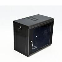 Монтажный шкаф 9U, 600х350х507 мм (Ш*Г*В), эконом, акриловое стекло, черный., серия MGSWL