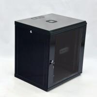 Монтажный шкаф 12U, 600х500х640 мм (Ш*Г*В), эконом, акриловое стекло, черный.,серия MGSWL