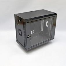 Монтажный шкаф 9U, 600х350х507 мм (Ш*Г*В), акриловое стекло, черный, серия MGSWA