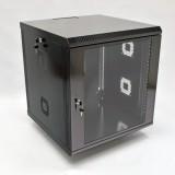 Монтажный шкаф 12U, 600х600х640 мм (Ш*Г*В), акриловое стекло, черный, серия MGSWA