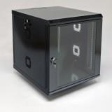 Монтажный шкаф 12U, 600х700х640 мм (Ш*Г*В), акриловое стекло, черный, серия MGSWA