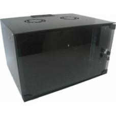 Шкаф настенный 9U 600x400 Soho Line стекл.дверь черный, разобранный