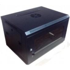 Шкаф коммутационный настенный 6U 600x600 черный