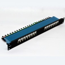 Патч-панель 16xRJ-45 FTP, кат. 6, dual type, EPNew