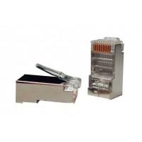 Коннектора RJ45 8P8C экранированные 50 mkm 6 категория, упаковка 100шт, Hypernet