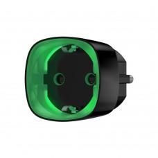 Радіокерована розумна розетка з лічильником енергоспоживання Ajax Socket чорна