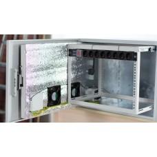 Шкаф монтажный 12U, климатический, всепогодный