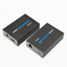 HDMI удлинитель 60м FullHD по 1 кабеля Cat.5e, 6 с блоком питания