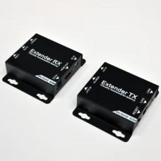 HDMI подовжувач 60м 4K по 1 кабелю Cat. 6 з блоком живлення з IR