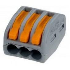 Соединитель монтажный универсальный 0,08-4мм2 , 32А , для трёх проводов