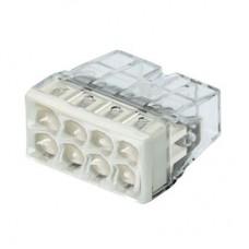 Соединитель COMPACT для монолитных проводов (медь + алюминий) 0.5 - 2.5 мм2, 24А, для восьми проводов