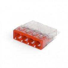 Соединитель COMPACT для монолитных проводов (медь + алюминий) 0.5 - 2.5 мм2, 24А, для четырёх проводов