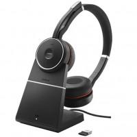 Jabra Evolve 75 Stereo MS - Charging stand,  Bluetooth-стереогарнитура с активным шумоподавлением и зарядной подставкой