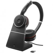 Jabra Evolve 75 Stereo MS - Charging stand, Bluetooth-гарнітура з активним шумозаглушенням і зарядної підставкою