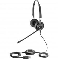 Jabra Biz 2400 II Duo USB, дротова гарнітура, USB-роз'єм, шумозаглушення