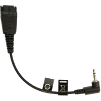 Jabra Mobile QD cord + 2.5mm jack QD на 2,5мм, 15см, кабель-адаптер