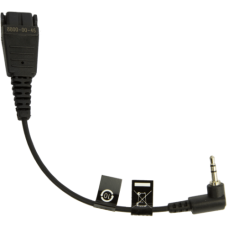 Jabra Mobile QD cord + 2.5mm jack QD на 2,5 мм, 15см, кабель-адаптер