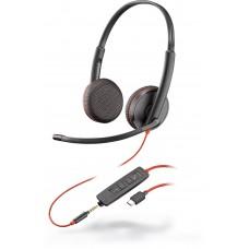 Plantronics BlackWire C3225-A (209751-22) - дротова гарнітура (стерео, jack 3.5/USB-C)