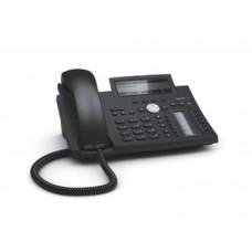 Snom D345, sip телефон 12 SIP аккаунтов, 2 порта Gigabit Ethernet RJ45, широкополосное HD аудио