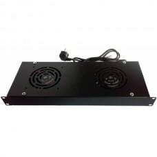 Модуль вентиляторный 2 вентилятора, для настенных шкафов, Hypernet