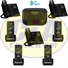 Panasonic KX-TGP600RUB + KX-TPA60RUB - 3шт + KX-TPA65RUB - 3шт, комплект SIP-DECT телефонов