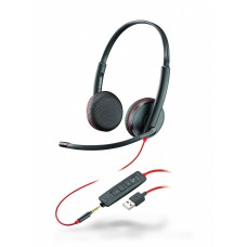 Plantronics BlackWire C3225-A - дротова гарнітура (стерео, jack 3.5/USB-A)